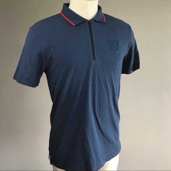 42054c0e577aab Puma Ferrari NEW men SF polo shirt blue drycell M